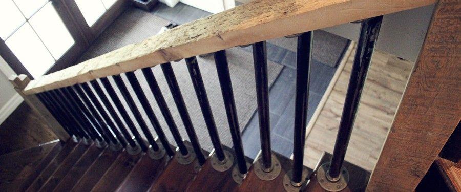 Rustic Railings Rustic Coffee Tables Rustic Hemlock Grey Board   Hemlock Handrails For Stairs   Basement Stairs   Newel Caps   Wooden Stairs   Wood   Newel Posts