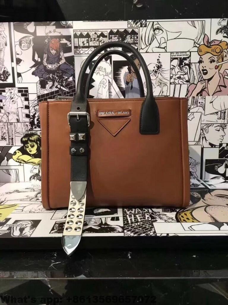 38c1760fa35d Prada Concept Leather Handbag 1BA175 2018