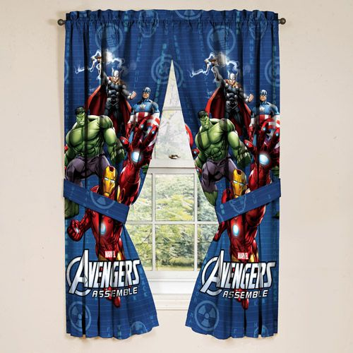 Marvel Avengers Boys Bedroom Curtains Set - Walmart.com in ...