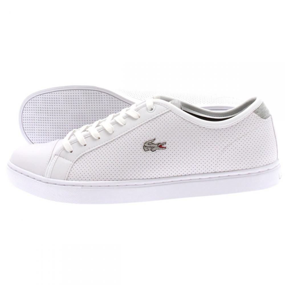 6a584545638b7 LACOSTE SHOWCOURT MARL TRAINERS FOR MEN IN WHITE GREY - Lacoste Trainers - MelMorgan  Sports