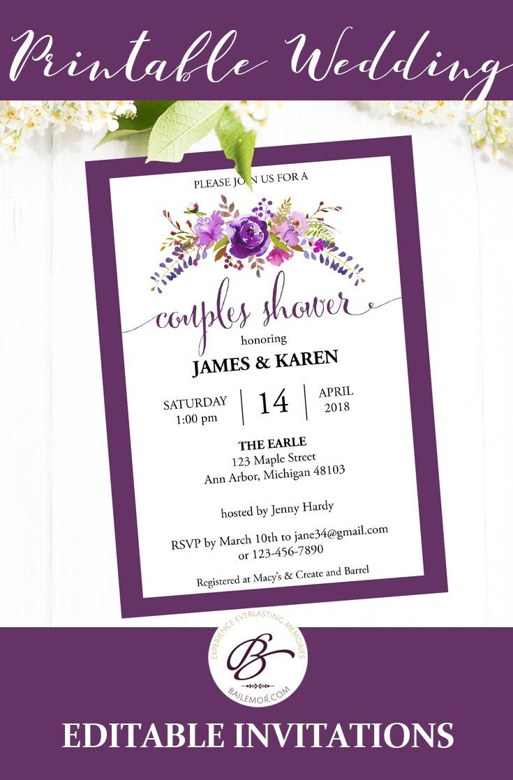 Couples Shower Invitation Instant Download, Printable Couples Shower ...