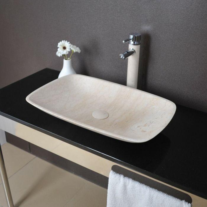 lavabo en marbre Evier - (Plan-) Vasque - Bol à poser - Lavabo - Meuble Vasque A Poser Salle De Bain