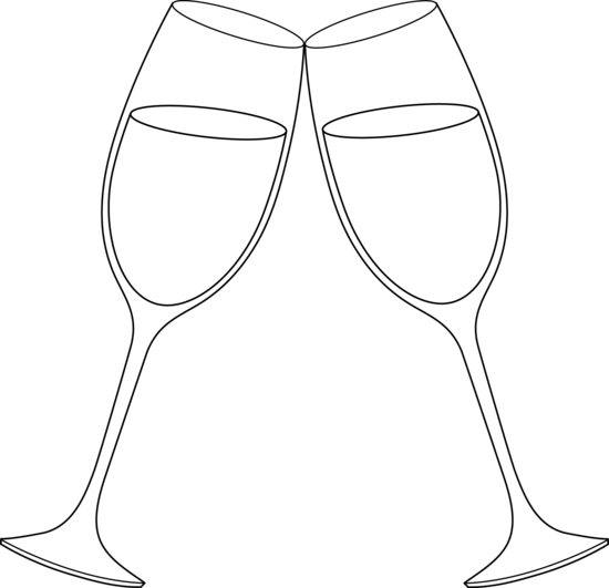 free clip art for wedding glass | Champagne Glasses Line ...