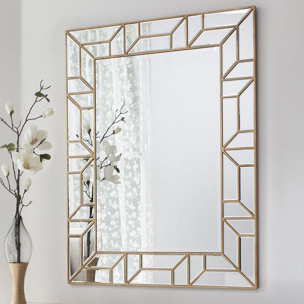 Verbier Gold Finish Rectangular Mirror 105 X 80cm 299 Mirror Wall Living Room Mirror Decor Wall Mirrors Rectangular