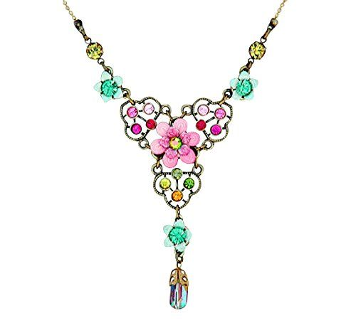 Orly Zeelon Brass, Multicolor Crystals Necklace, with Hand Painted Flowers Orly Zeelon http://www.amazon.com/dp/B00QL0W7IQ/ref=cm_sw_r_pi_dp_rKjzvb1AMM6WQ