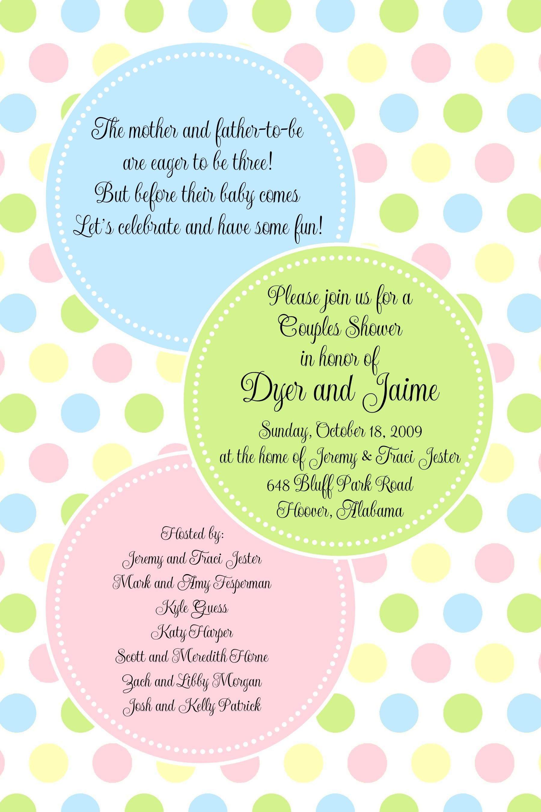 Best Did You Know Somebody That Is Aquiring A Little One Have You Eve Baby Shower Invitations Polka Dot Baby Shower Invitation Baby Shower Templates