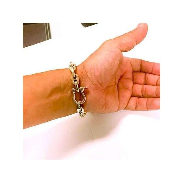 705232dae7f0d Men Anchor Chain Bracelet 14k via Polyvore featuring men's fashion ...