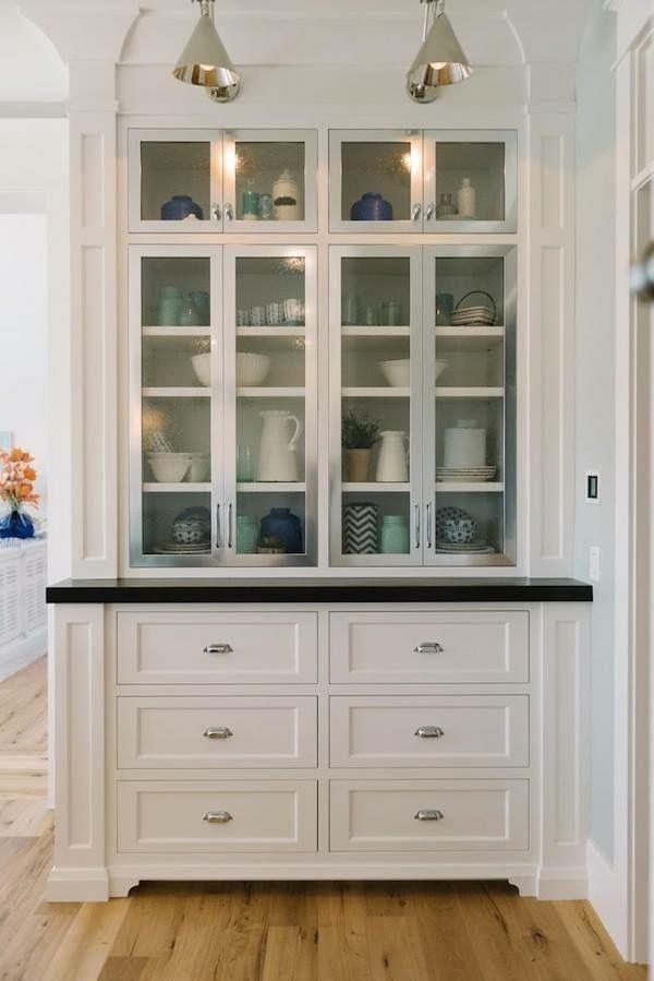Pinkendra Carpenter On For The Home  Pinterest  Kitchens Simple White Kitchen Hutch Inspiration Design
