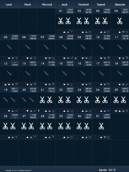 Calendrier Lunaire De Mars 2015 : calendrier, lunaire, Janvier, Cheveux, Ongles,, Calendrier, Lunaire, Cheveux,