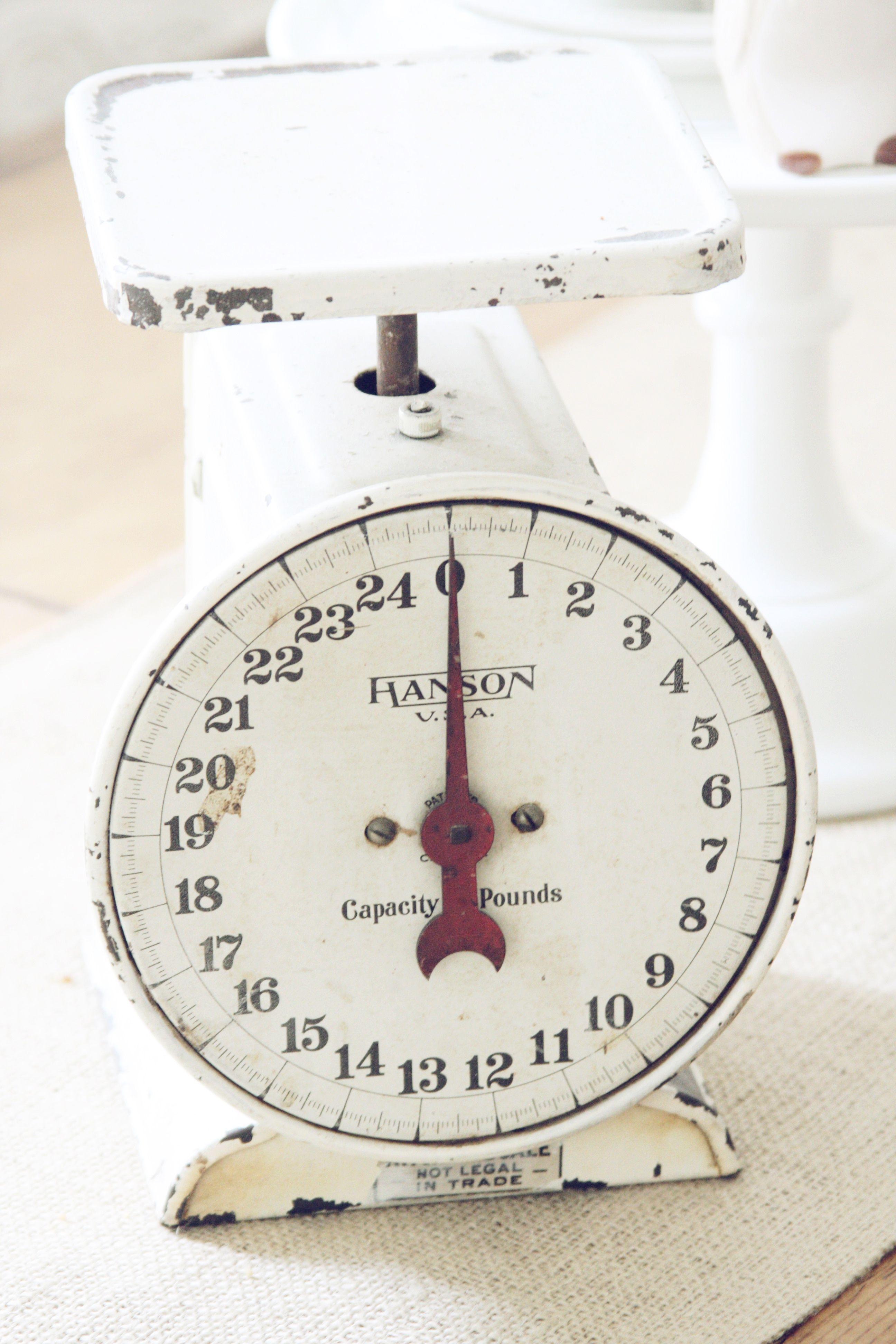 Vintage Creme Kitchen Scale~blondiensc.etsy.com | little things I ...