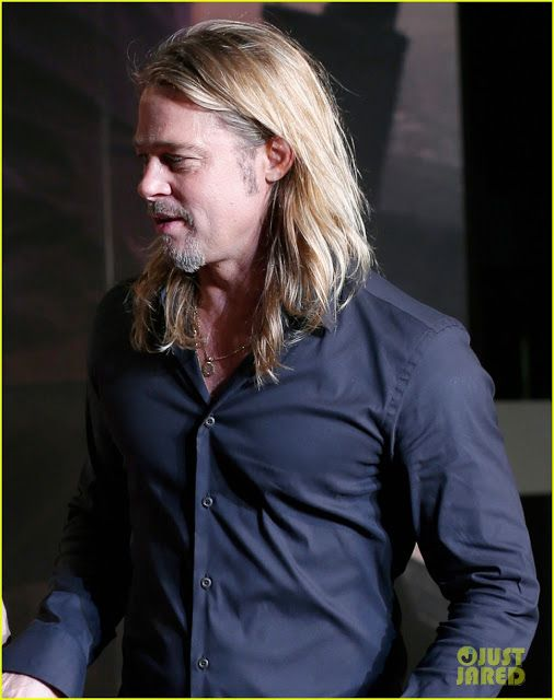Brad Pitt World War Z Hair : world, Angelina, Jolie, Premiera,