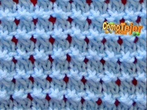 a2b840db31c0d Cómo Tejer Punto ROPA BEBÉ  15 - How to Knit a BABY STITCH 2 Agujas (388) -  YouTube