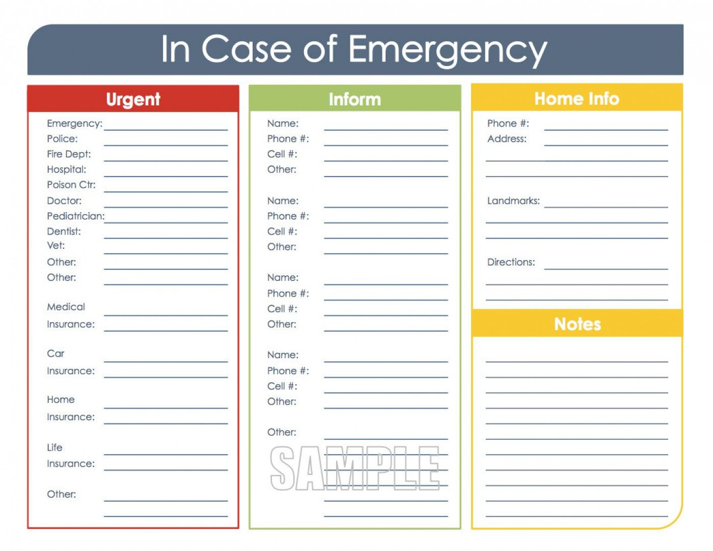 036 Emergency Contact Card Template Pertaining To In Case Of Emergency Card Template Fugozinsur Organization Printables In Case Of Emergency Emergency Binder