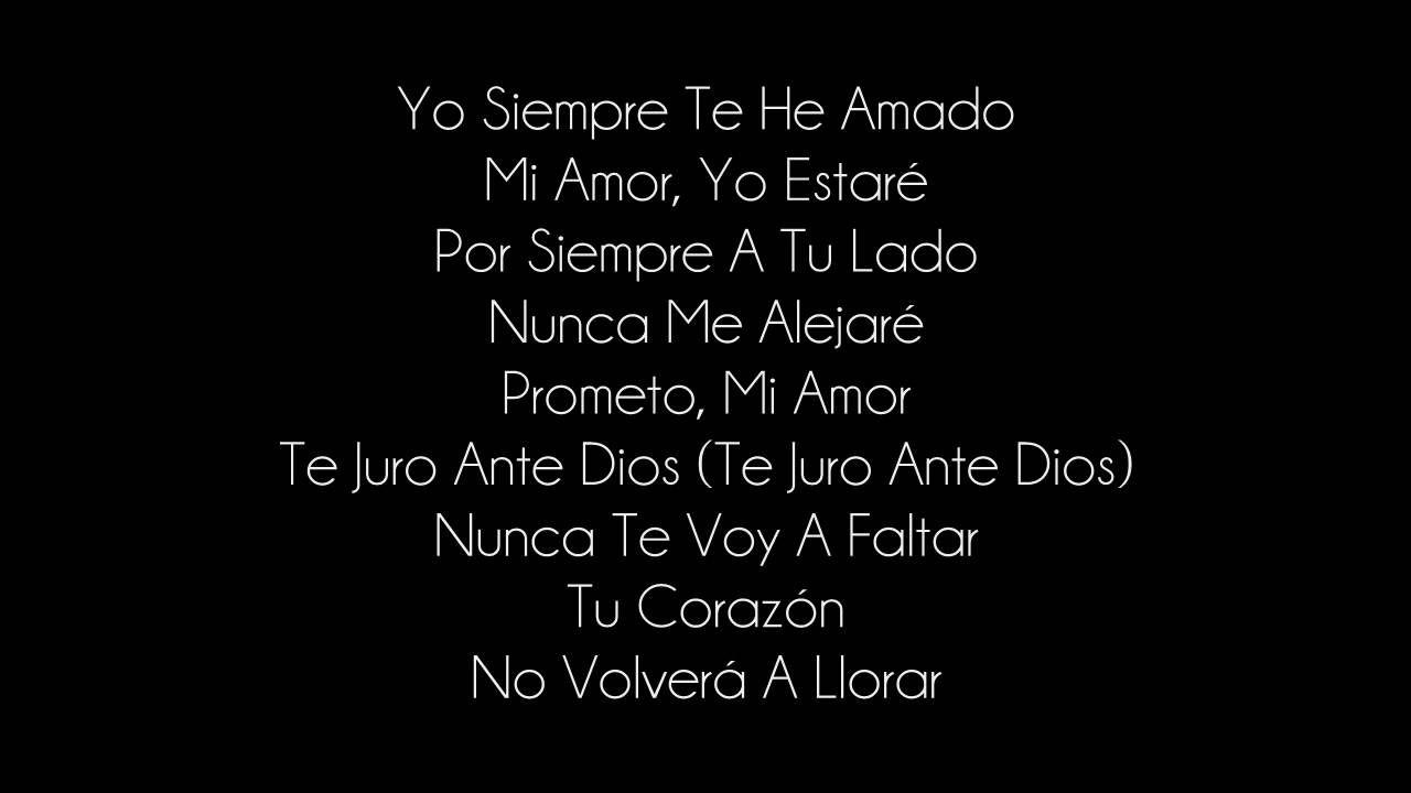 N Sync Yo Te Voy Amar Lyrics Verdades Viejitos Musica