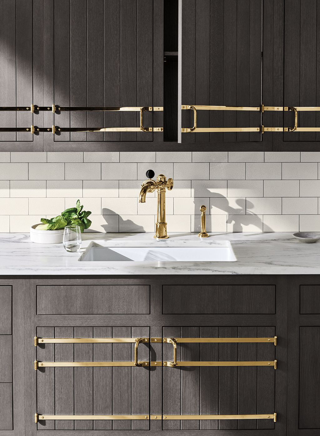 On Tap One Hole High Profile Kitchen Faucet With Metal Wheel