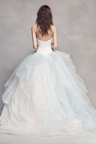 eb32e2ca4d54 For the bride who wants to wear a touch of color. The exclusive ombre tulle  on this sweetheart ball gown wedding dress is inspired by the pearls found  ...