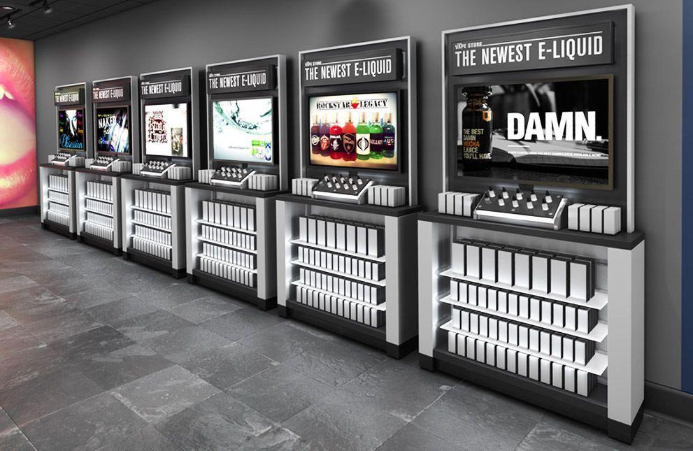 Vape store fixtures vapor store displays vaporstore