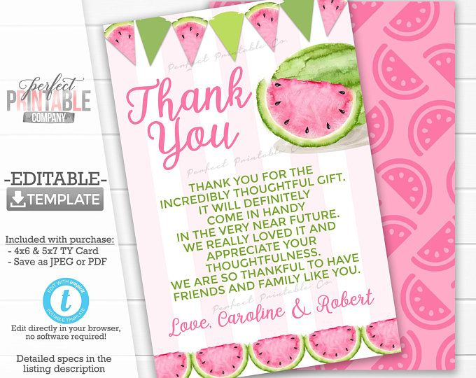 Watermelon Baby Shower Game Pack Baby BINGO Advice and | Etsy