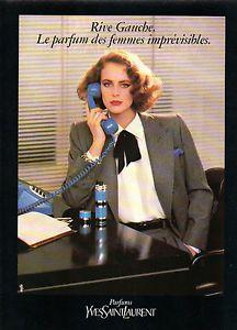 Laurent Femme Saint Ysl Publicité Parfum Yves Pour Rive 1987 Gauche wN0OX8nPk