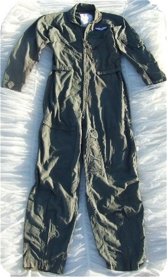 37a61723d285 Vintage-Authentic US Air Force Aviator Pilot Flight Suit