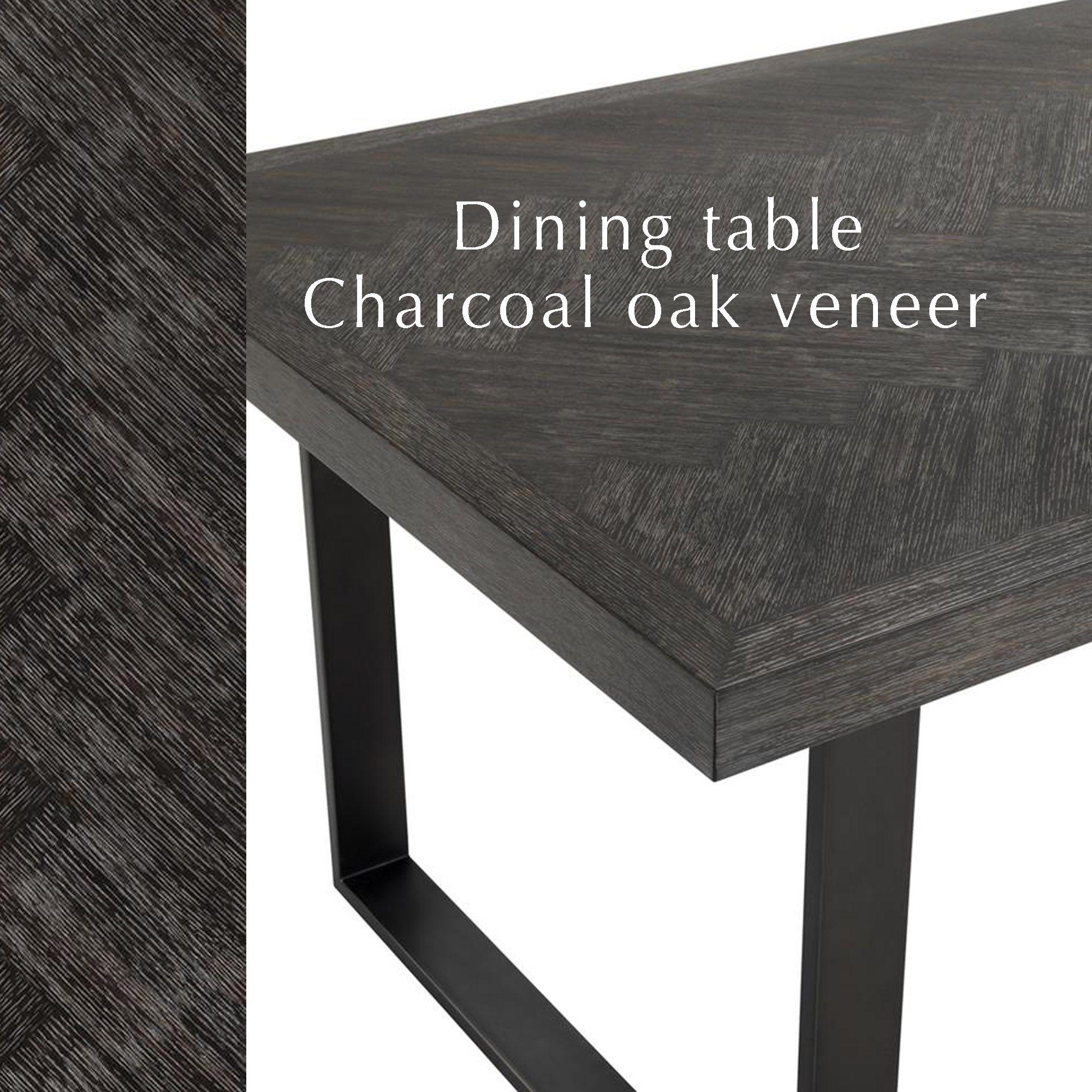 Tafel Eiken 300 Cm.Dining Table Melchior 300cm Zwarte Grote Tafel Met Houtskool