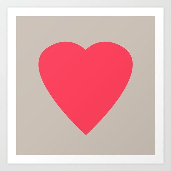 ART PRINT MINI   Mariana Lisina (erstudiome) Pink Heart by Mariana Lisina