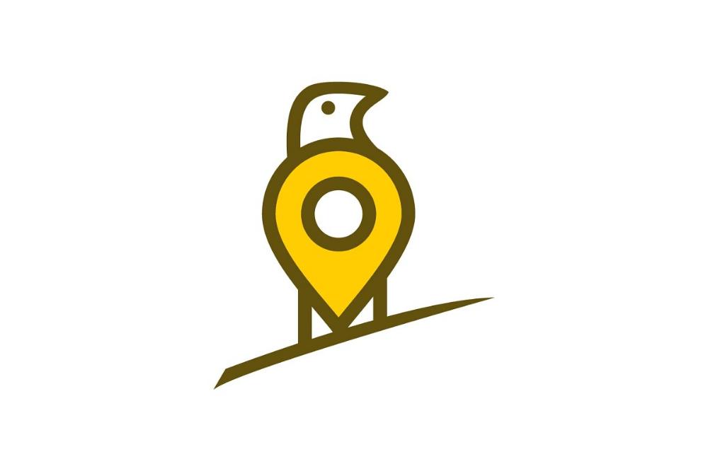 Bird location spot logo