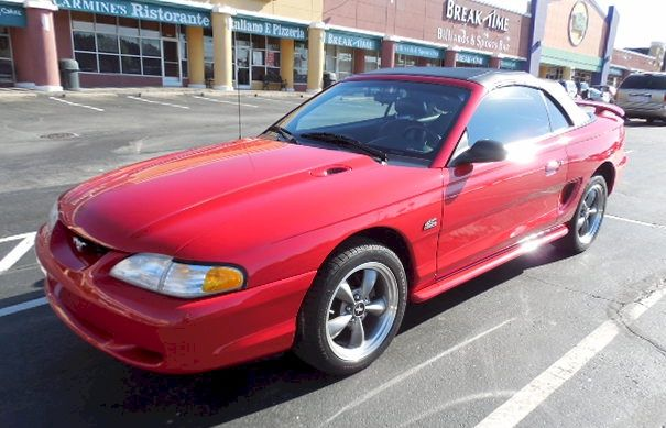 Mustang Gt 1994 Convertible Mustang Red Vibrant
