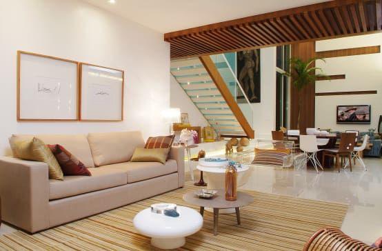 warme und moderne Wohnzimmer in Beige - moderne wohnzimmer beige