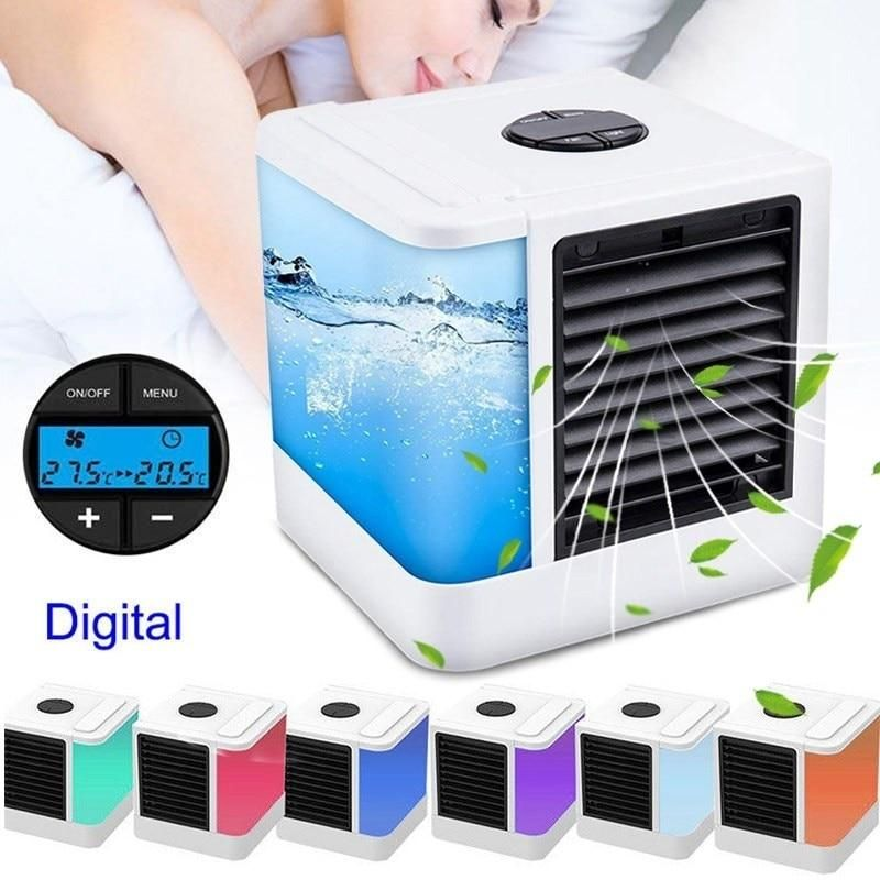 7 Color Lights Mini Air Conditioner Device Fans Usb Portable Air Cooler Humidifiers Table Fan For Home In 2020 Air Cooler Portable Air Cooler Portable Air Conditioner