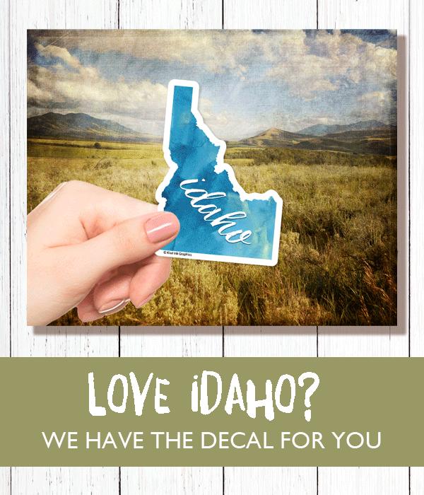 Idaho, Idaho Sticker, Idaho Decal, State Stickers, Travel