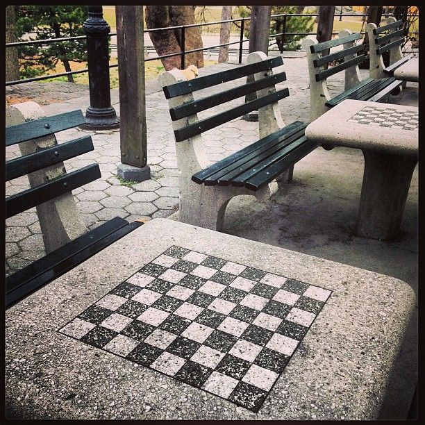 The Game Center In Central Park Chess Anyone Chess Table