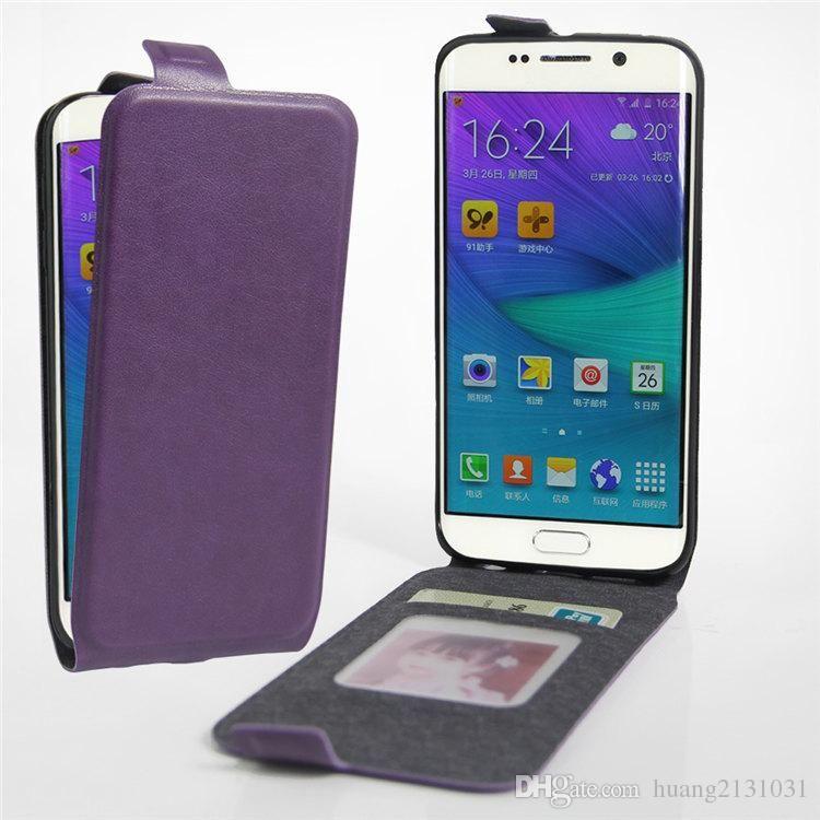 Mewah Pu Leather Case Penutup Untuk Samsung S6 Edge Kasus Telepon, Membuka Bawah…