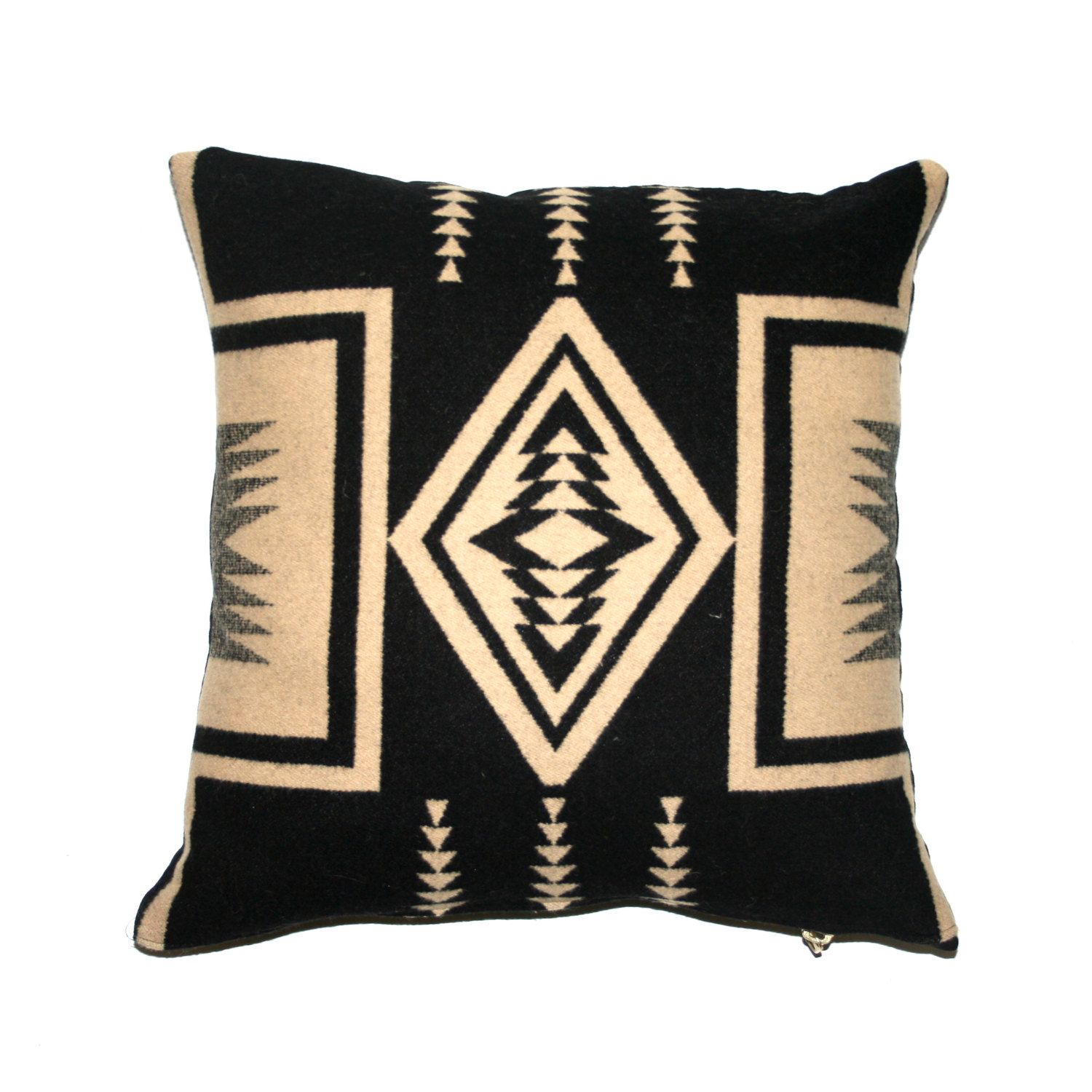 Pendleton Pillow, Wool Throw Pillow, Cushion Cover, Navajo