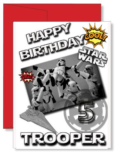 Personalized Star Wars Stormtrooper Birthday Greeting Card