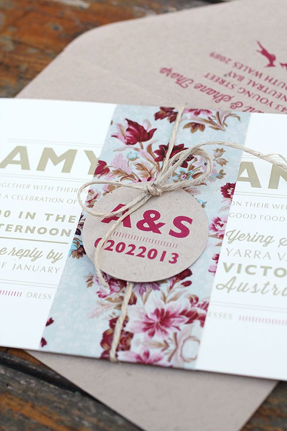Vintage Floral Invitation Suite by Ruby \ Willow #weddinginvitations