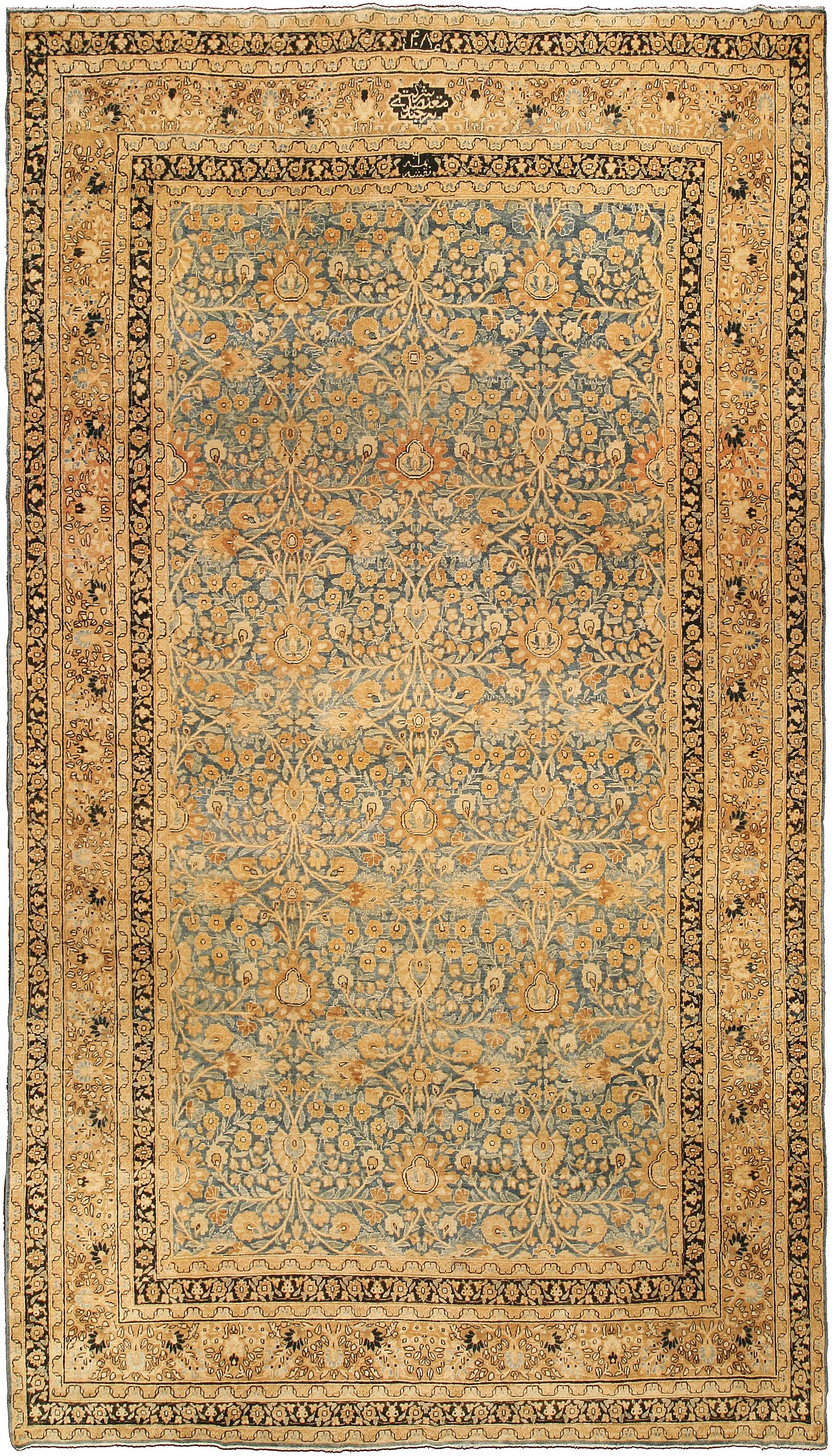 Vintage Persian Meshad Carpet Rugs In Living Room Rugs