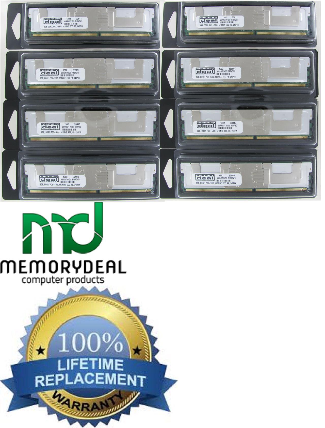 64GB PC2-5300F FBDIMM Memory Dell Poweredge 1950 III 2900 III 2950III 8X8GB