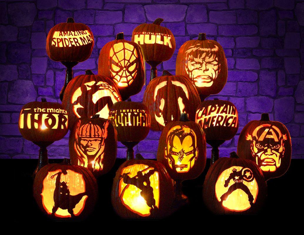 Marvel pumpkins holidays pinterest pumpkin
