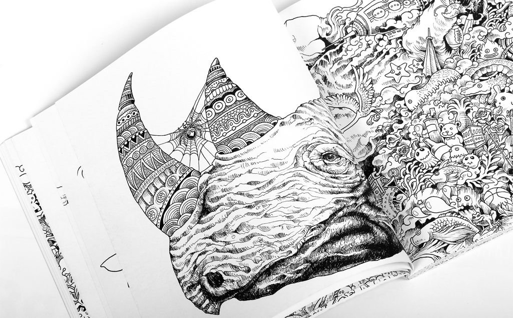 Animorphia: An Extreme Coloring and Search Challenge Book by Kerby ...