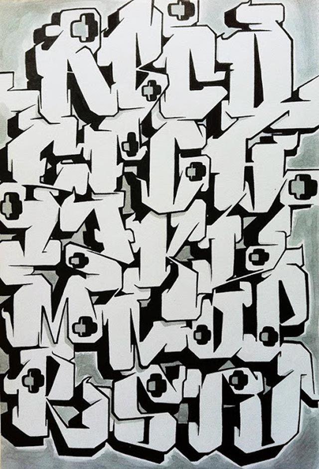 graffiti-alphabet-Block-Alpha | Artsy Fartsy | Graffiti