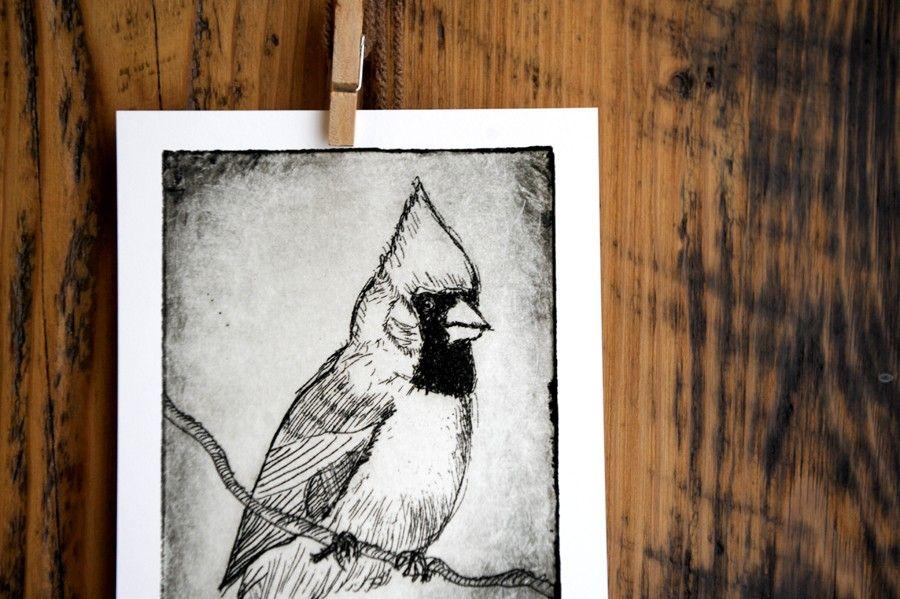 Bird Decor  Wall Art  Cardinal Bird Print  by LittleBeanPrints, $16.00