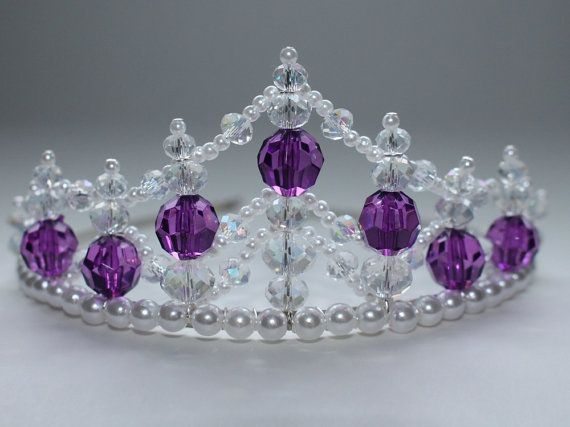 Magnificent Princess Purple Tiara Birthday Flower Girl