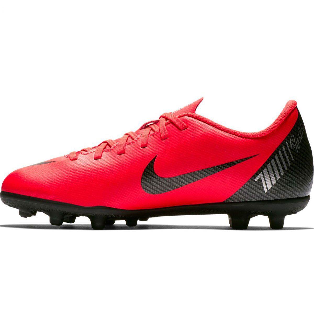 Buty Pilkarskie Nike Mercurial Vapor 12 Club Gs Cr7 Fg Mg Jr Aj3095 600 Czerwone Wielokolorowe Football Shoes Mens Football Cleats Shoes