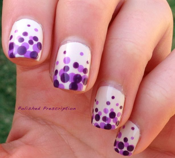 dotted nails - Google Search | Nails | Pinterest