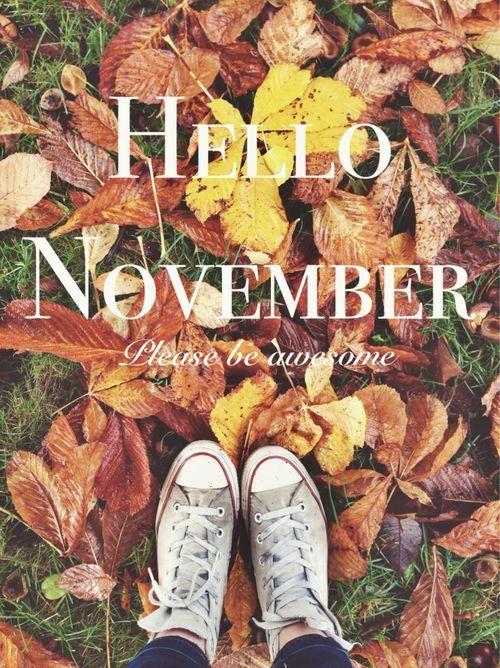 Hello November Please Be Awesome Hello November Welcome November November Quotes