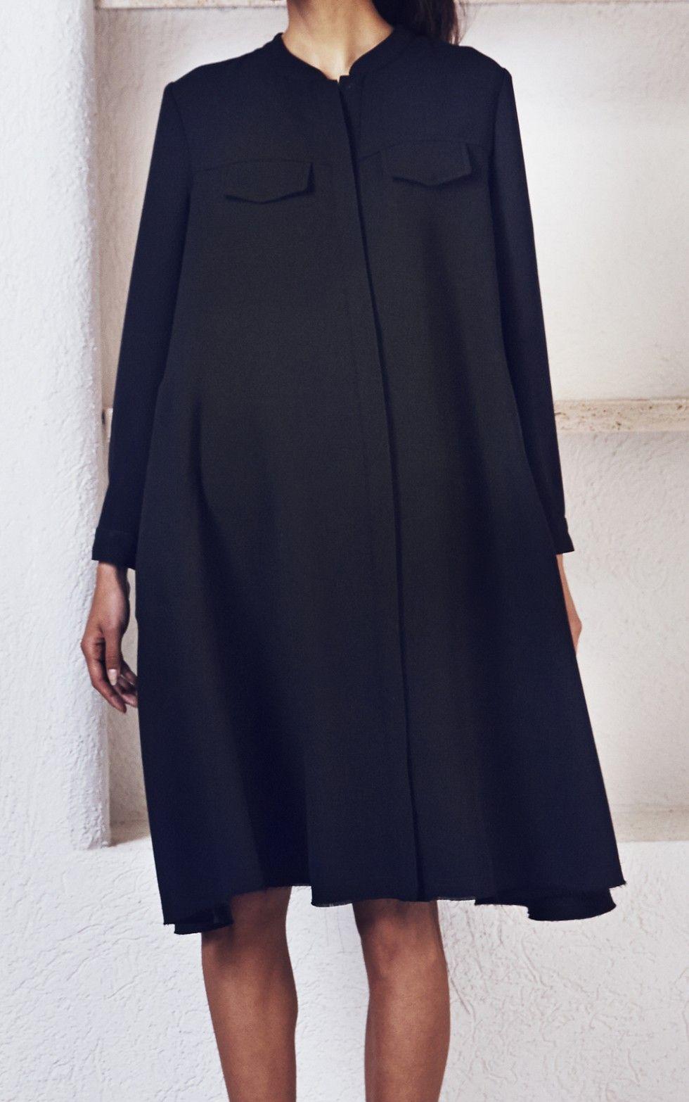 Rachel comey oversized shirt dress style fashion black is