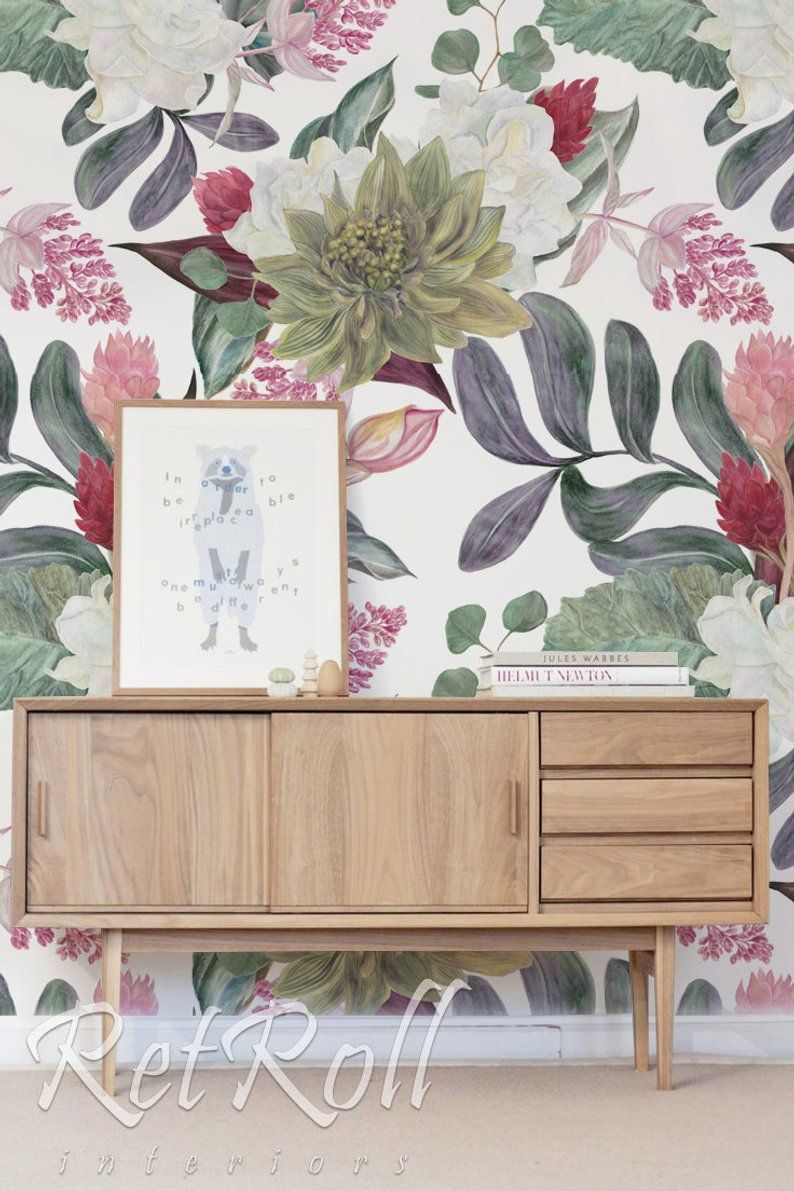 Colorful Flowers Removable Wallpaper Design Wall Covering