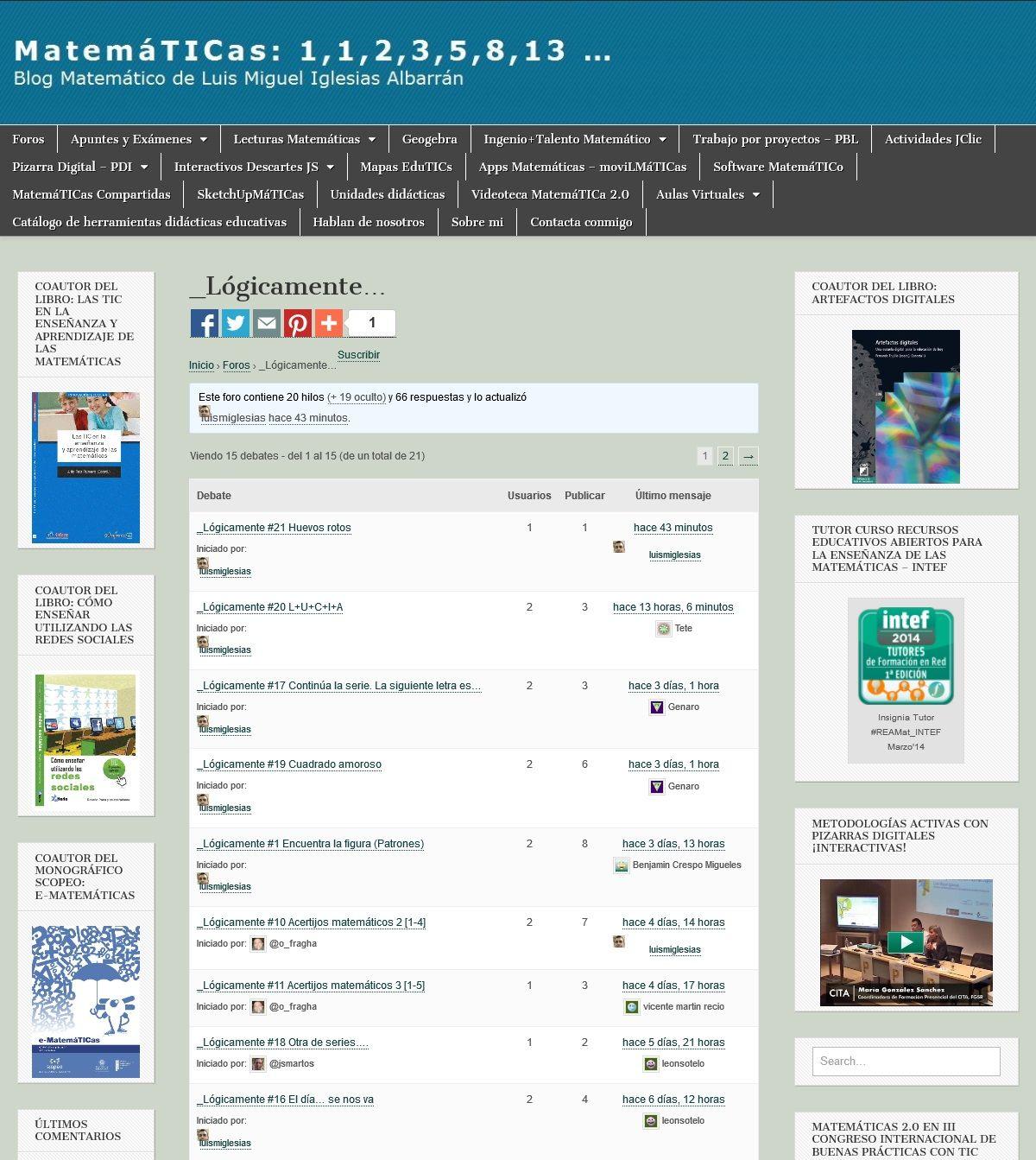 Matemáticas 1 1 2 3 5 8 13 Matematicas Libros De Matemáticas Enseñanza Secundaria