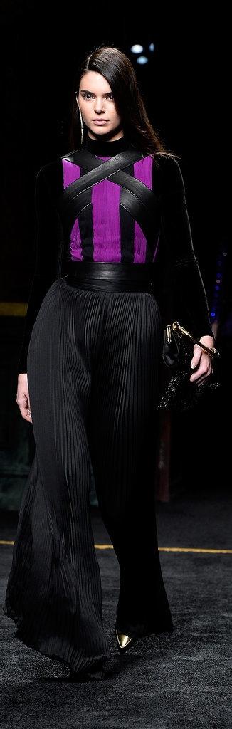 Kendall Jenner Balmain F W 2016 Fashion Show Balmain F W